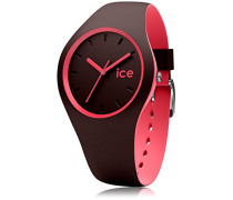 ICE duo Chocolat Coral - Braune Damenuhr mit Silikonarmband - 012972 (Medium)