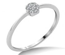 9 Karat (375) Weißgold Verlobung Diamant Ring SA983R