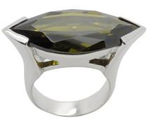 Damen-Ring 925 Sterling Silber Zirkonia grün
