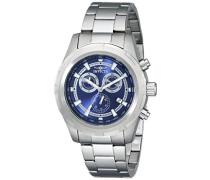 17729 Specialty Uhr Edelstahl Quarz Blauen Zifferblat