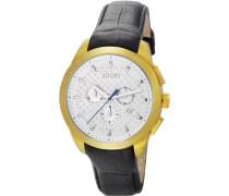 Armbanduhr XL Legend Chrono Swiss Made Chronograph Quarz Leder JP101071S08