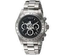 22864 Disney Limited Edition - Mickey Mouse Uhr Edelstahl Quarz schwarzen Zifferblat