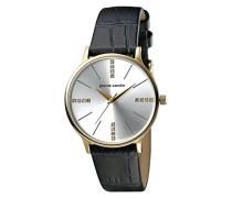 Analog Quarz Uhr mit Leder Armband PC902202F03