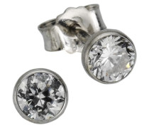 Silver - Ohrstecker Zirkonia 925/- Sterling Silber 171220015