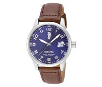 15254 I-Force Uhr Edelstahl Quarz blauen Zifferblat