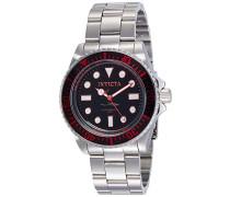 20121 Pro Diver Uhr Edelstahl Quarz schwarzen Zifferblat