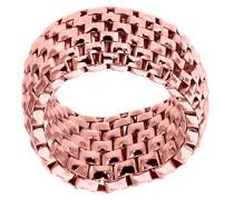 Ring Stretch-Meshgewebe Rose Vergoldetes Silber