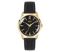 Erwachsene Analog Quarz Uhr mit Leder Armband HL39-S-0176