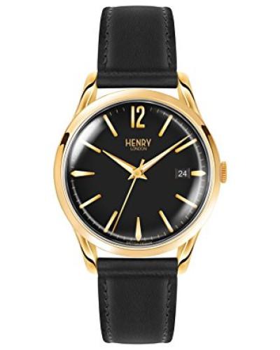 Datum klassisch Quarz Uhr mit Leder Armband HL39-S-0176