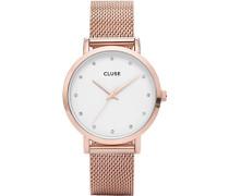 Damen-Armbanduhr Analog Quarz Edelstahl CL18303