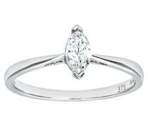 Damen-Ring 375 Weißgold 26 Diamant 9 Karat