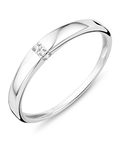 SA976R Ring, 9-karätiges Weißgold, Diamantbesatz