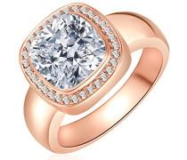 Ring rosevergoldet 925 Silber teilvergoldet Zirkonia weiß