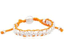 Damen-Armband Silverskull silber/orange 00528