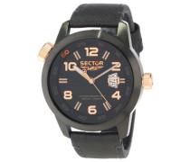Armbanduhr XL Oversize Analog Leder R3251202025