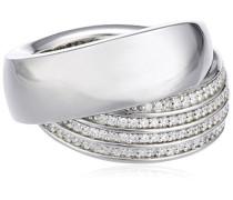 Ring 925 Sterling Silber Zoe Zirkonia-PavÃe weiß