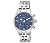 Herren-Armbanduhr XL Chronograph Edelstahl TW0772