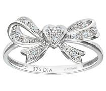 Damen-Ring 9 K Weißgold P1 Diamant 0,05 ct