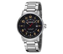 Analog Quarz Uhr mit Edelstahl Armband 01.0341.114