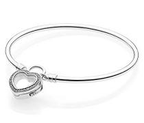 Moments Floating Heart Locket Armreif 925 Sterlingsilber 21 cm