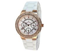 Armbanduhr Analog Quarz Premium Keramik Diamanten - STM15S6