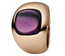 Damen-Ring Edelstahl teilvergoldet Quarz lila