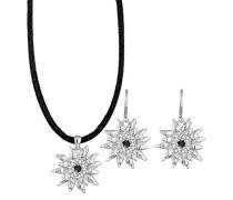 Halskette Schmuckset Edelweiss silber 925 Swarovski Kristall schwarz 0905711314_45