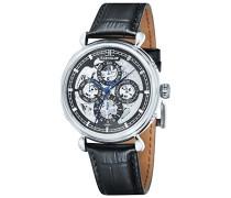 Automatische Armbanduhr Analog Display und Lederband es-8043–01 _ Metallic
