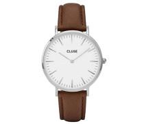 Damen Armbanduhr Analog Quarz Leder CL18210