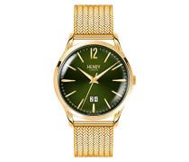 Datum klassisch Quarz Uhr mit Edelstahl Armband HL41-JM-0146