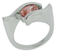 Damen-Ring 925 Sterling Silber mit Zirkonia rosa