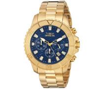 24001 Pro Diver Uhr Edelstahl Quarz blauen Zifferblat