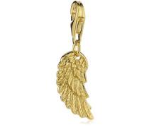 Charm Flügel 925 Silber teilvergoldet - ERC-WING-G