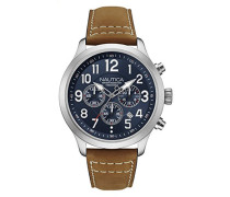 Analog Quarz Uhr mit Leder Armband NAD14531G