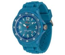 Summertime – fa-1023 – 56 – Armbanduhr – Quarz Analog – Zifferblatt Blau Armband Silikon Blau