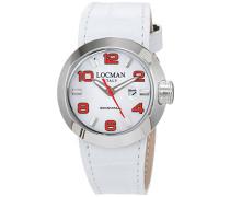 Datum klassisch Quarz Uhr mit Leder Armband 42100BKNCO1PSR