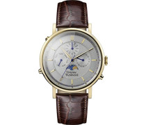 Analog Quarz Uhr mit Leder Armband VV164CHBR