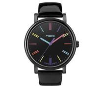Armbanduhr Style Analog Leder schwarz T2N790D7