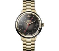 Analog Quarz Uhr mit Edelstahl Armband VV158BKGD