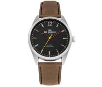 Datum klassisch Quarz Uhr mit Leder Armband WB019BT