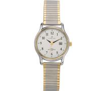 – 642319 Armbanduhr 045J699 Analog silber Armband Metall Zweifarbig