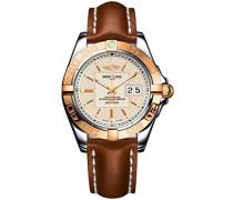 Armbanduhr Galactic 41 Analog Automatik Leder Braun C49350L2/G701/425X