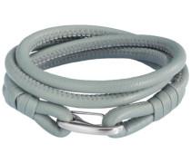 Unisex-Armband Edelstahl Leder 38 cm - 609070221