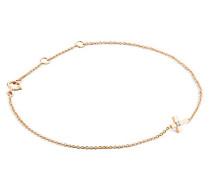 Armband - Armreif Kette Rosé 9 Karat/375 Gold mit Kreuz Diamant Brilliant 19 cm