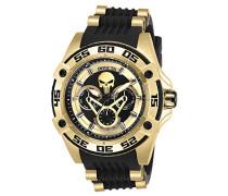 27034 Marvel - Punisher Uhr Edelstahl Quarz schwarzen Zifferblat