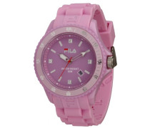– fa-1023 – 34 – Armbanduhr – Quarz Analog – Zifferblatt Rosa Armband Silikon Rosa