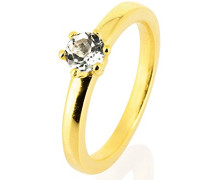 Damen-Stapelring style & Chatonring 925 gold ,