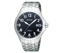Uhren Armbanduhr Klassik Analog Quarz Edelstahl PS9093X1