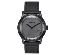 Analog Quarz Uhr mit Leder Armband A1161-001-00