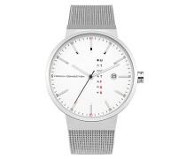 Analog Quarz Uhr mit Edelstahl Armband FC1283SM